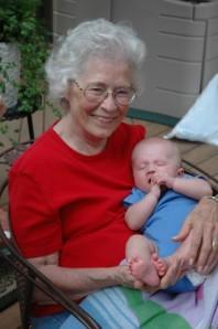Granny & baby Aidan, 2006
