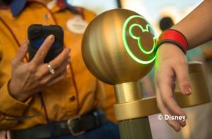 You'll see touch points like this when you enter the park when it's time to use your FastPass+