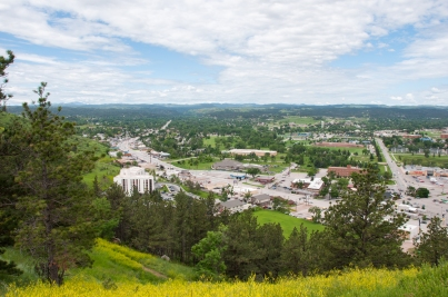 View of Rapid City from Dinosaur Park